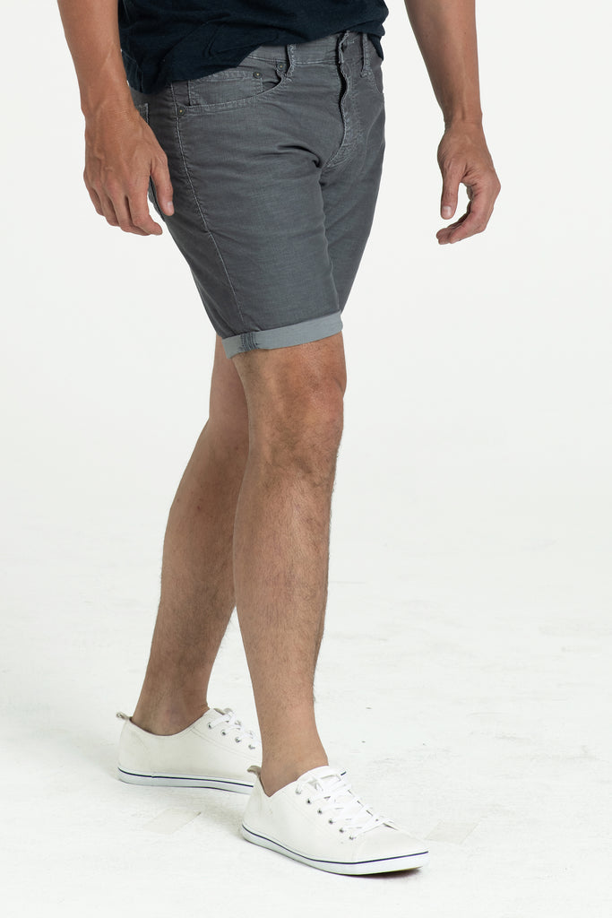 ROLL UP CORD SHORTS IN IRON