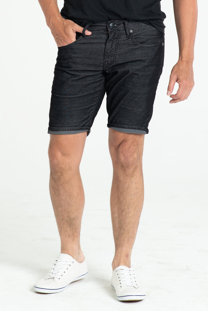 ROLL UP CORD SHORTS IN ONXY