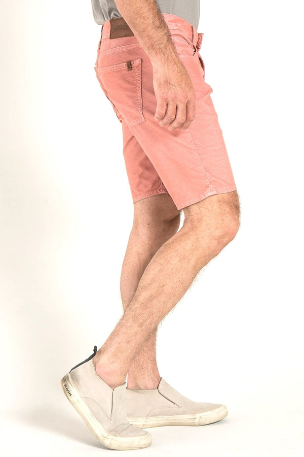 ROLL UP CORD SHORTS IN RETRO PINK
