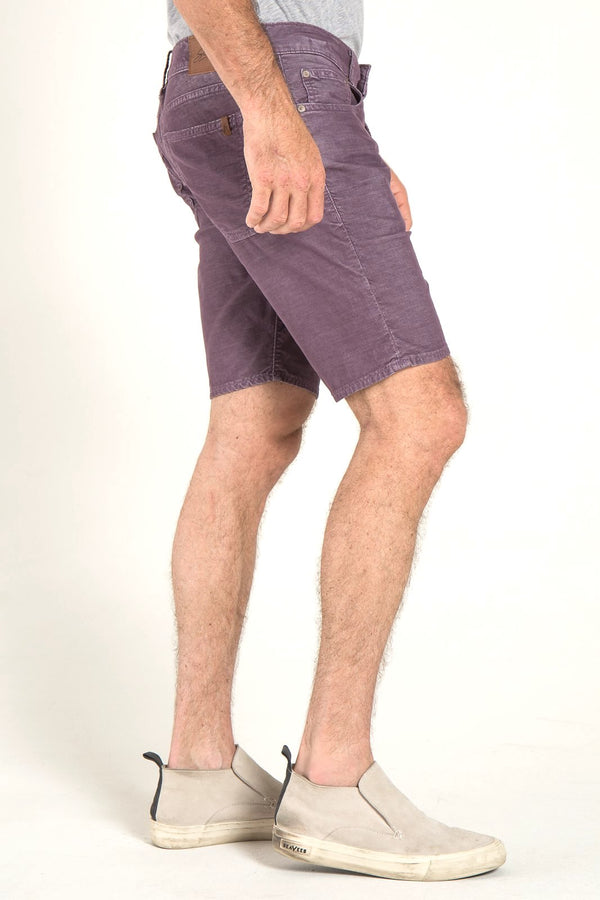 ROLL UP CORD SHORTS IN VINTAGE BERRY