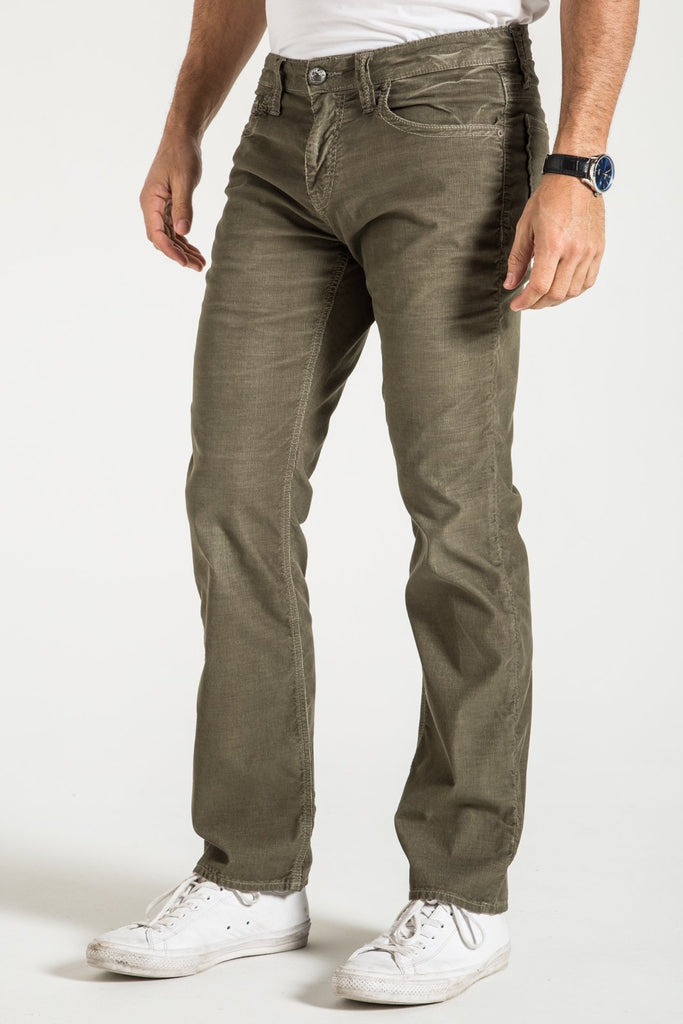 TEXAS STRAIGHT CORD PANTS IN MOSS