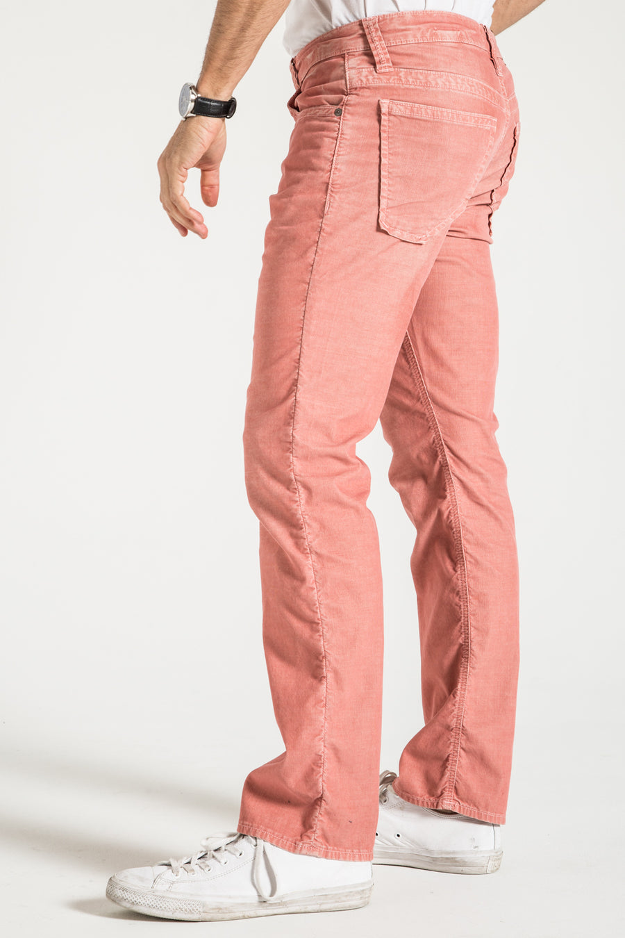 TEXAS STRAIGHT IN RETRO PINK CORDUROY