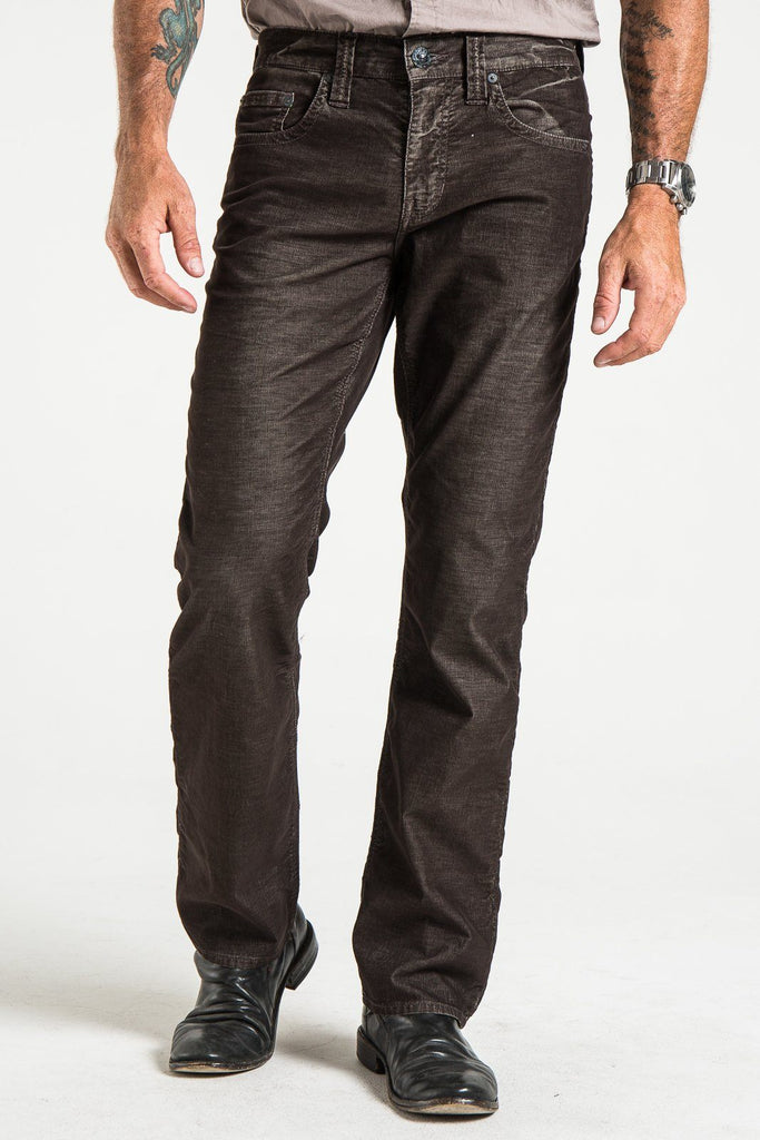 TEXAS STRAIGHT IN DIM BROWN CORDUROY