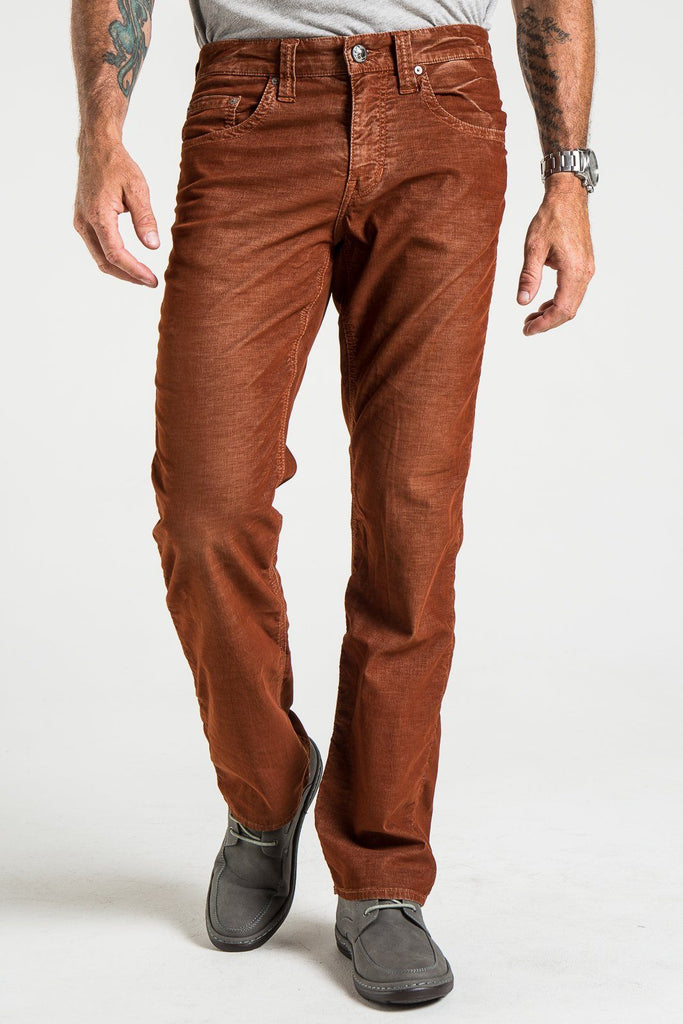 TEXAS STRAIGHT CORD PANTS IN RUST