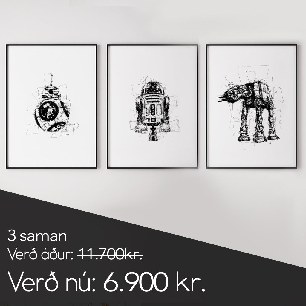 BB8 - Walker - R2D2 Þrennan