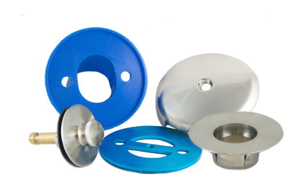 BIG Leak-Proof Overflow Gasket, Overflow Cover, and Lift & Turn Drain Kit