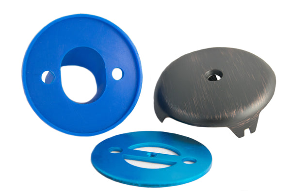 BIG Overflow Gasket and Overflow Cover Kit for Stopping Tub Leaks