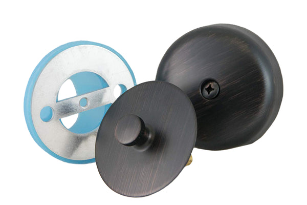 Leak-Proof Overflow Gasket, Overflow Cover, and Oversized Drain Stopper Kit