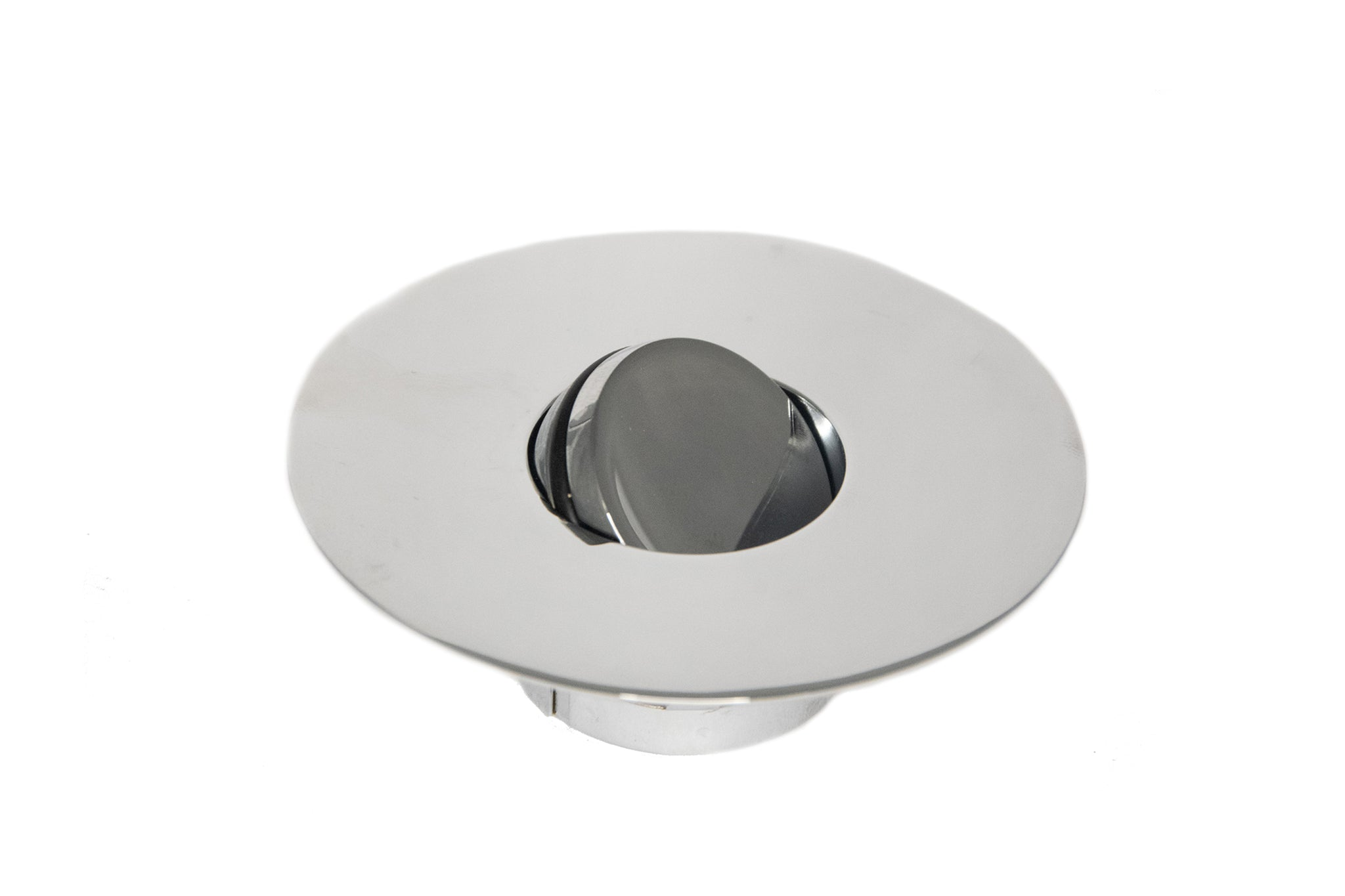 Small Non-Threaded Bathtub Flip-Top Drain Stopper with Snap-In Flange