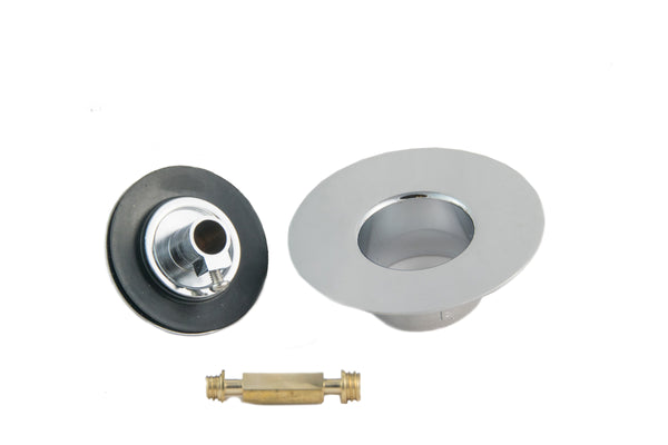 Non-Threaded Bathtub Lift & Turn Drain Stopper with Snap-In Flange