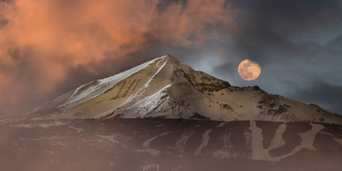 Moon Set At Lone Peak