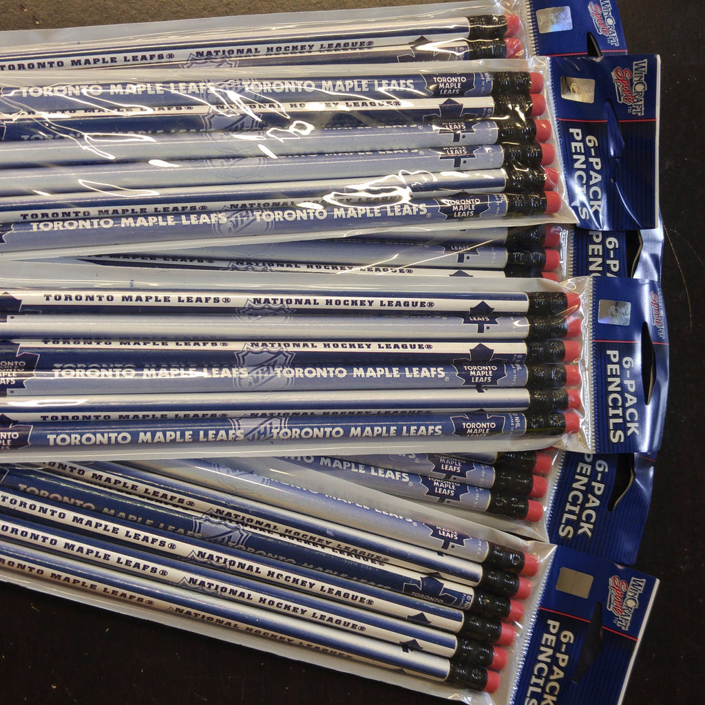 TORONTO MAPLE LEAF 6PK PENCILS  (6 packages of 6)