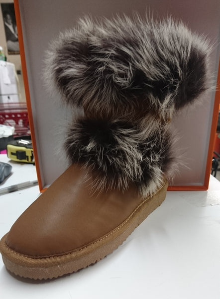 auabp - Gracie Leather Boot / Brown - Women's (AU09) -- Compare at $80.00 --