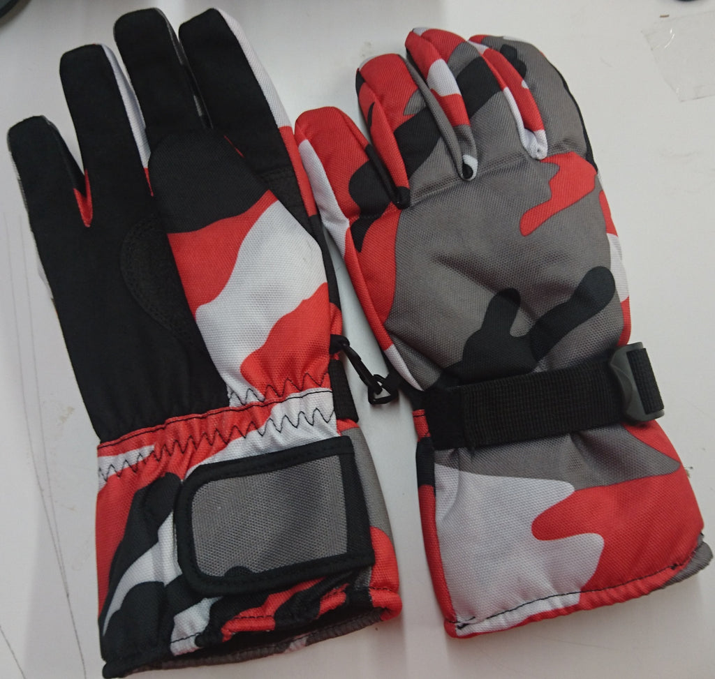 Winter Gloves / Red Camo Size Large -- Compare at $70.00 --