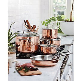 *BRAND NAME* Tri-Ply Copper 10 Piece Cookware Set -- Compare at $1299.00