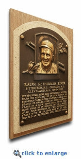 Baseball Hall of Fame Plaque Printed on Canvas -- Compare at $79.95