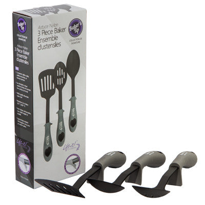 Baker's Tip - Nylon 3 Piece Utensil Set -- Compare at $30.00 --