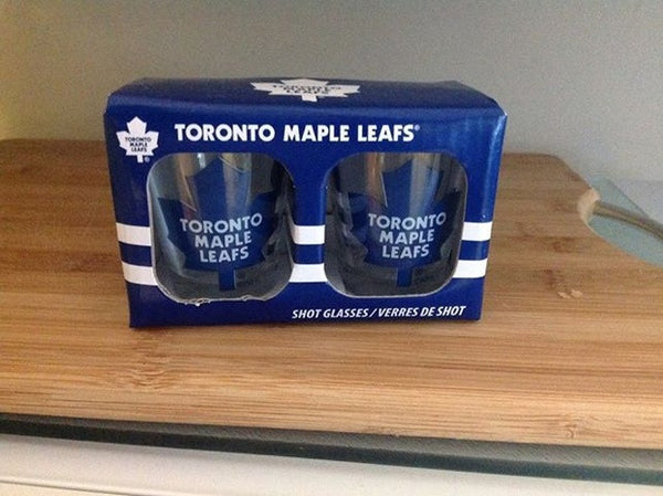TORONTO MAPLE LEAF SHOT GLASSES - 2PK