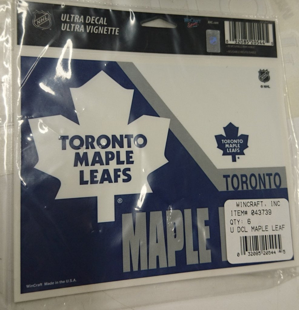TORONTO MAPLE LEAFS ULTRA DECALS 6PK