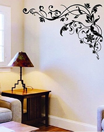 Wall Sticker Decal, Tribal Black Flower or Butterfly -- Compare at $10.00 --