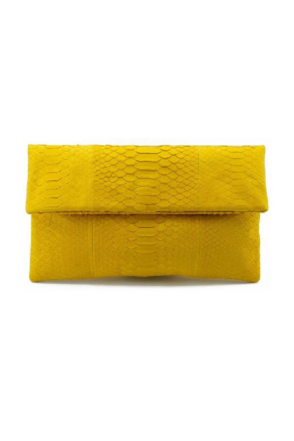 Mandalay Lemon Foldover Clutch