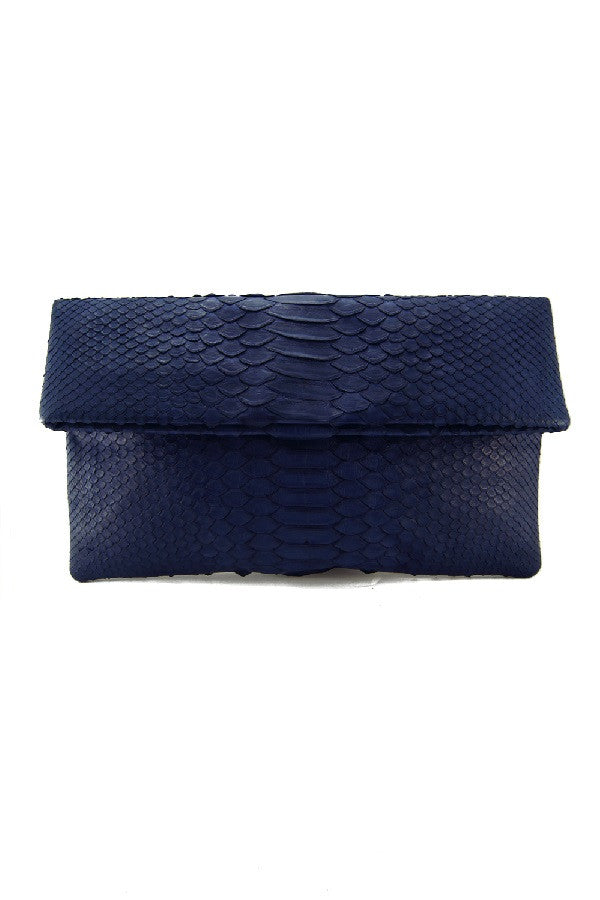 Mandalay Midnight Blue Foldover Clutch