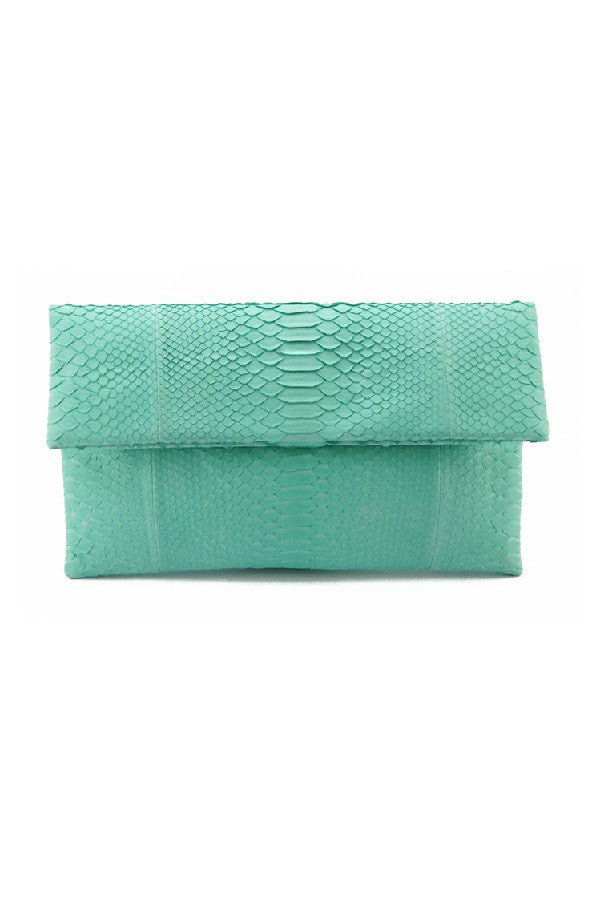 Mandalay Mint Foldover Clutch