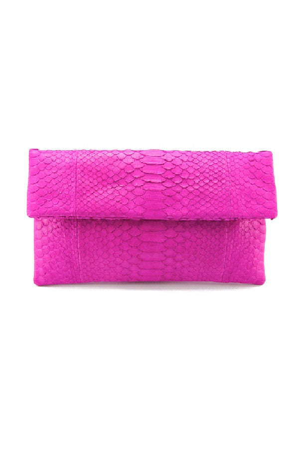 Mandalay Hot Pink Foldover Clutch