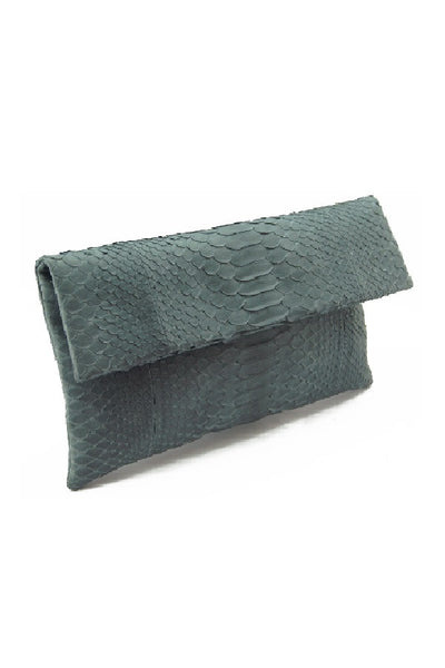 Mandalay Grey Foldover Clutch