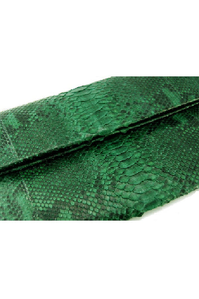 Mandalay Green Motif Foldover Clutch