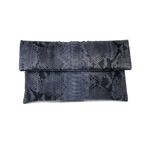 Mandalay Grey Motif Foldover Clutch