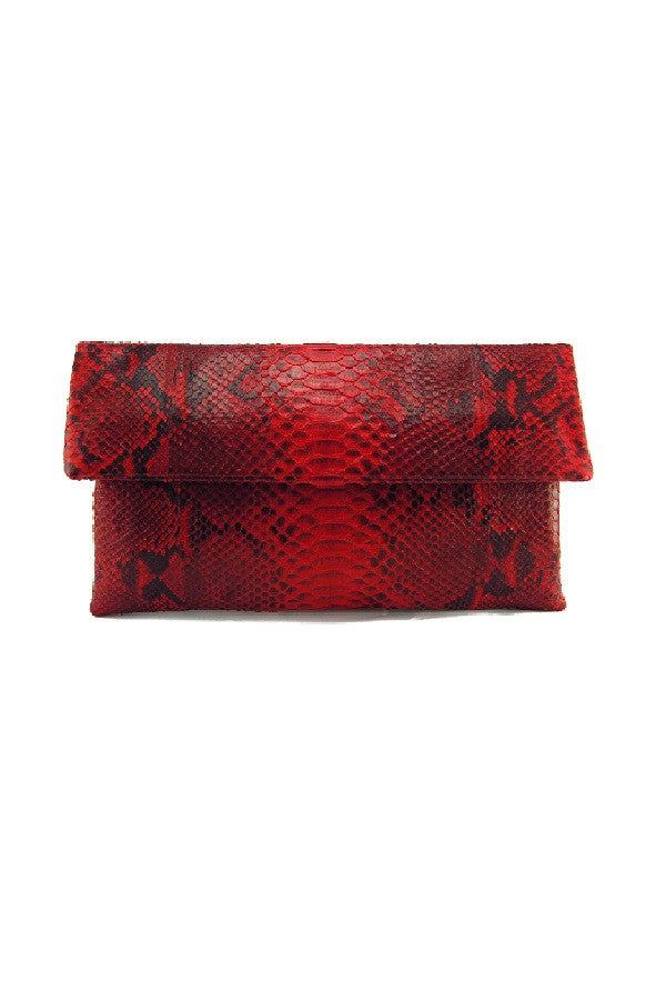 Mandalay Red Motif Foldover Clutch