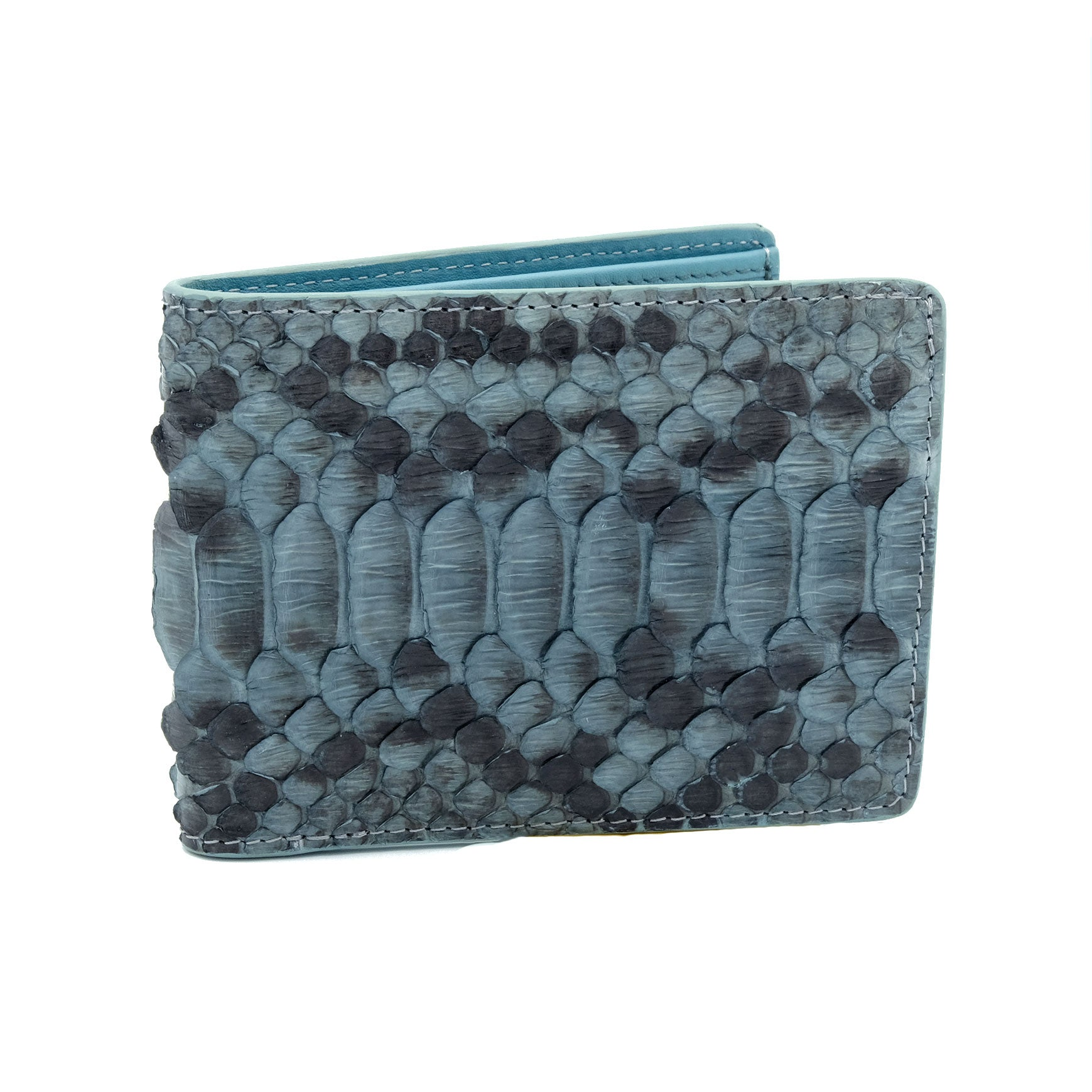 Dusit Men's Grey Motif Bi Fold Wallet