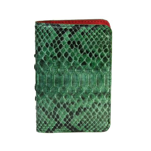 Green Motif Python Passport Cover