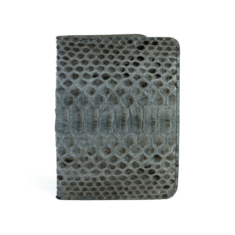Grey Motif Python Passport Cover