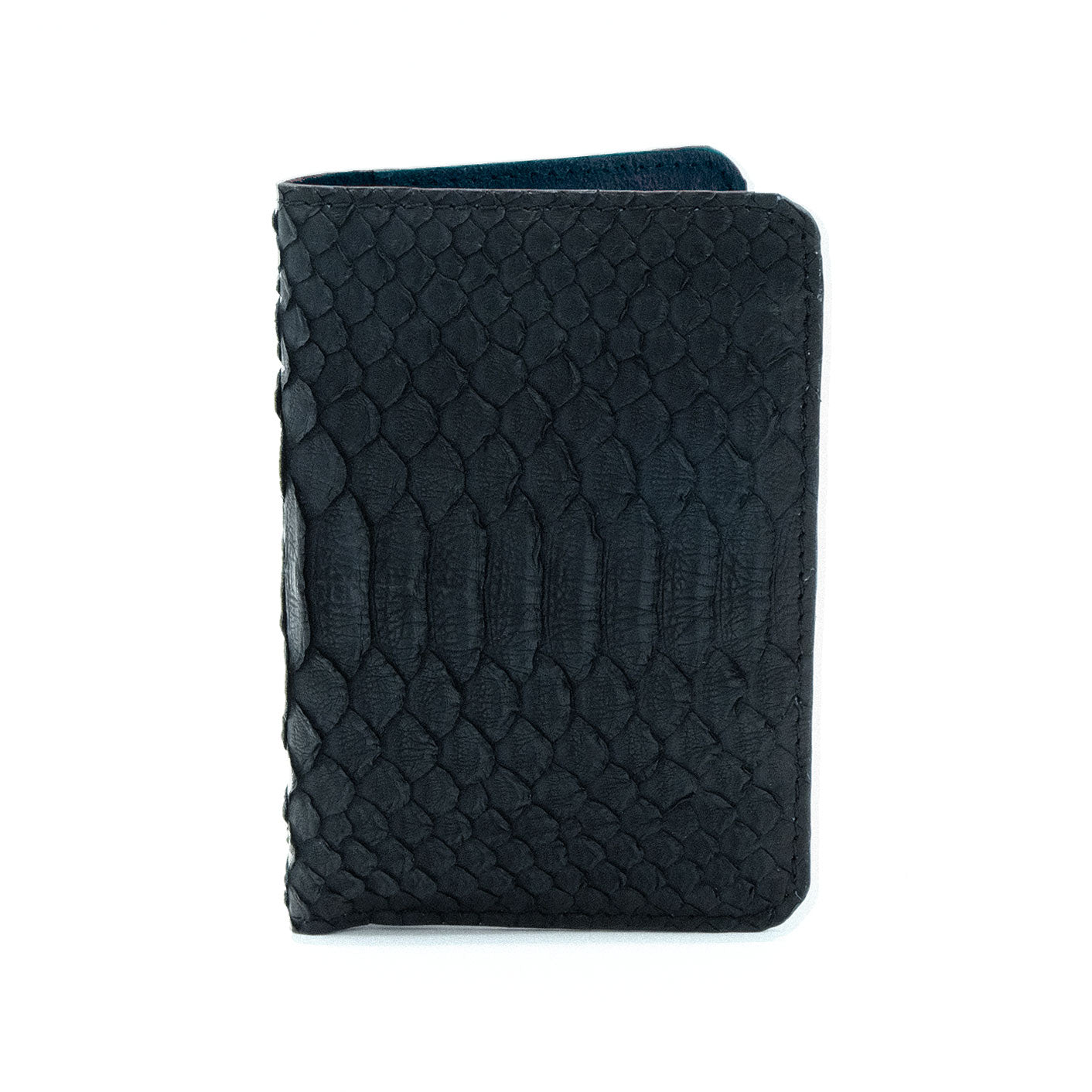 Onyx Black Python Passport Cover