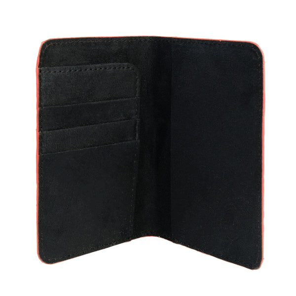 Red Motif Python Passport Cover