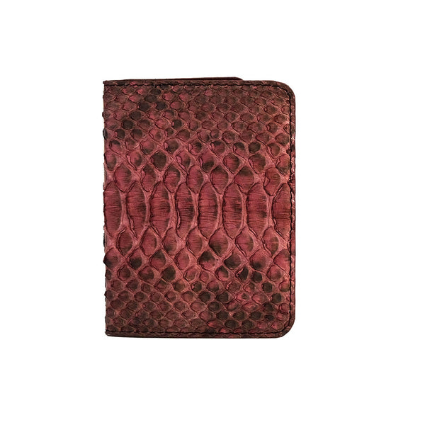 Rose Motif Python Passport Cover