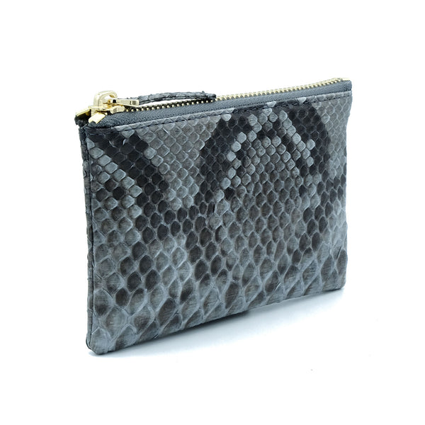 Snakeskin & Python Grey Motif Coin Purse or Zip Pouch | Urban Story