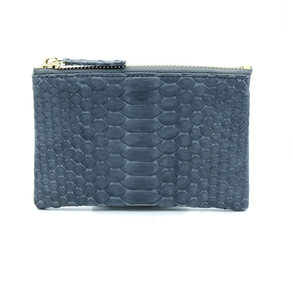 Snakeskin & Python Grey Coin Purse or Zip Pouch | Urban Story