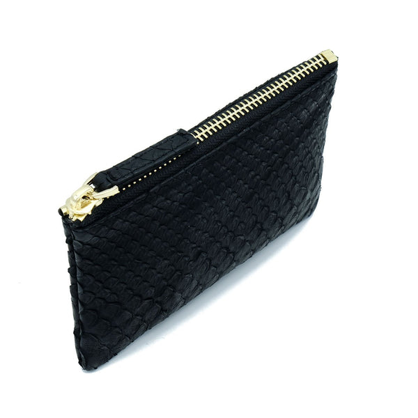 Snakeskin & Python Black Coin Purse or Zip Pouch | Urban Story