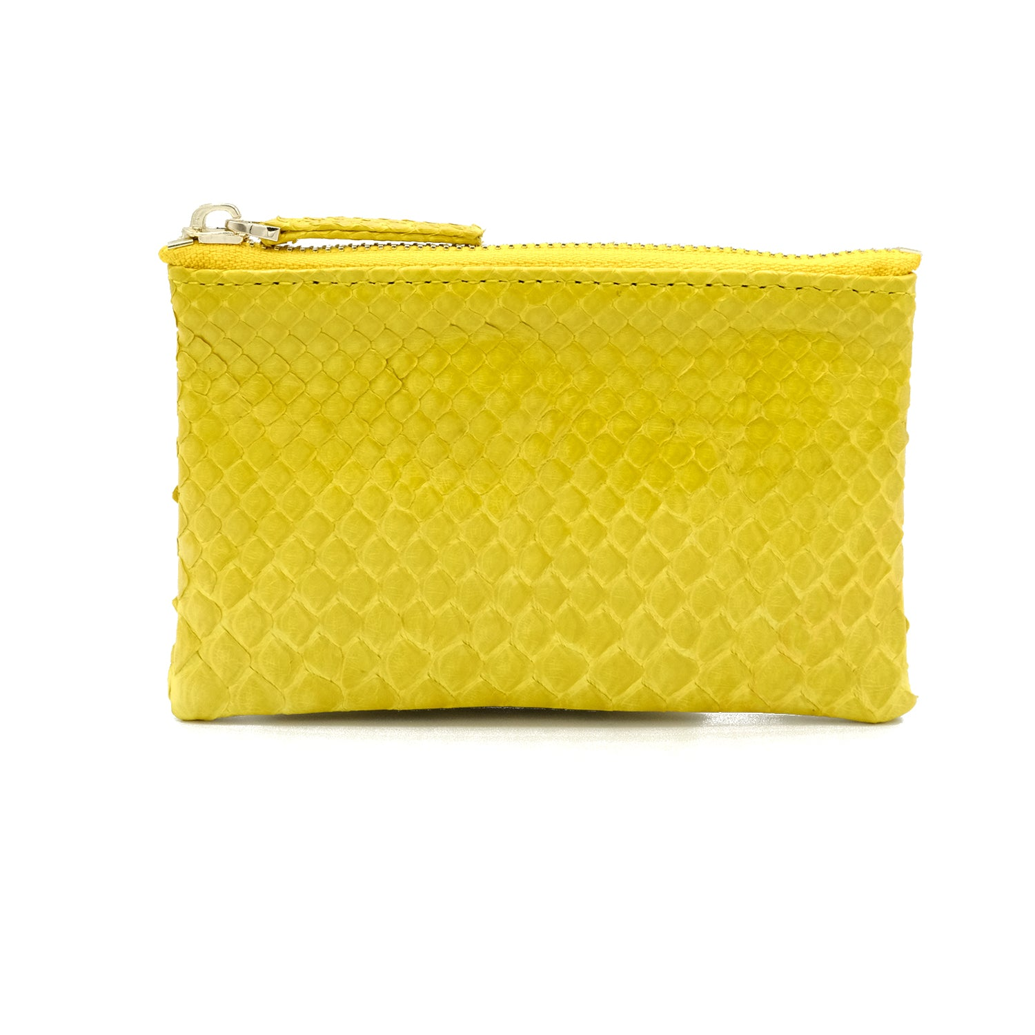Snakeskin & Python Yellow Coin Purse or Zip Pouch | Urban Story