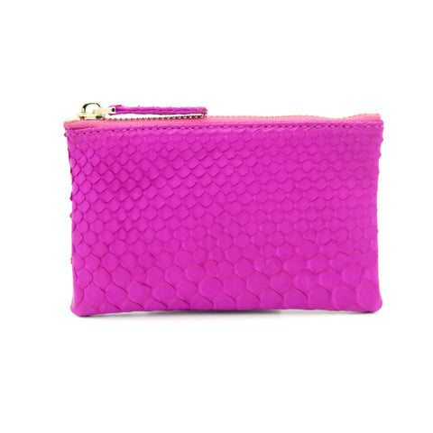 Snakeskin & Python Hot Pink Coin Purse or Zip Pouch | Urban Story