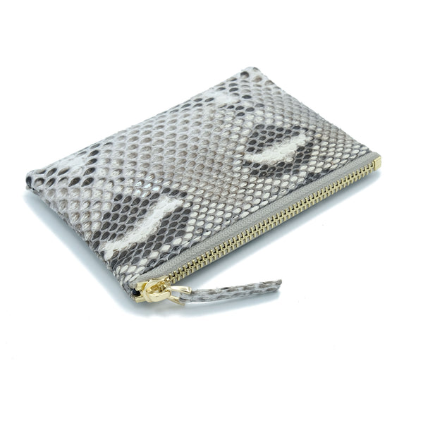 Snakeskin & Python Natural Motif Coin Purse or Zip Pouch | Urban Story