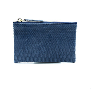 Snakeskin & Python Dark Blue Coin Purse or Zip Pouch | Urban Story