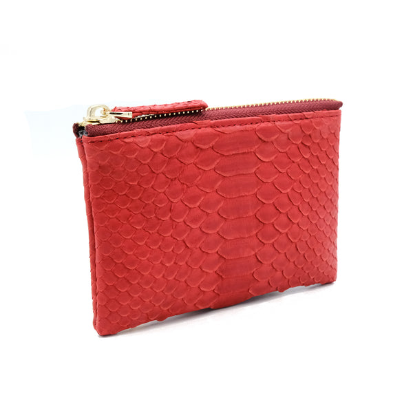 Snakeskin & Python Red Coin Purse or Zip Pouch | Urban Story