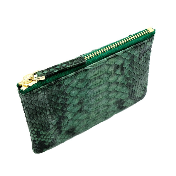 Snakeskin & Python Green Motif Coin Purse or Zip Pouch | Urban Story