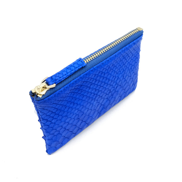 Snakeskin & Python Blue Coin Purse or Zip Pouch | Urban Story