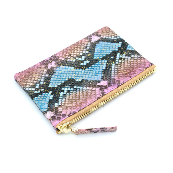 Snakeskin & Python Multicolor Coin Purse or Zip Pouch | Urban Story