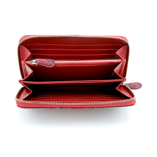 Silom Red Motif Women's Long Wallet